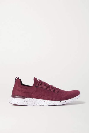 Techloom Breeze Mesh Sneakers - Burgundy