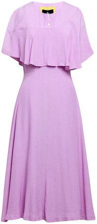 Emily Lovelock Draped Front Dress - Lilac