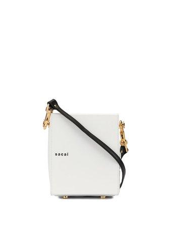Sacai Box Shoulder Bag White