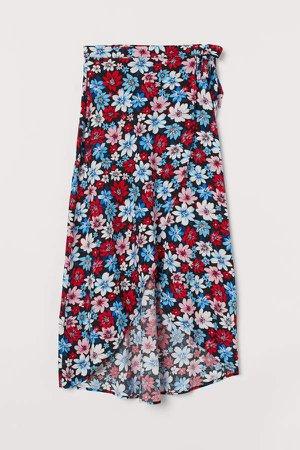 Wrap-front Skirt - Blue