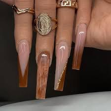 brown baddie nails - Google Search