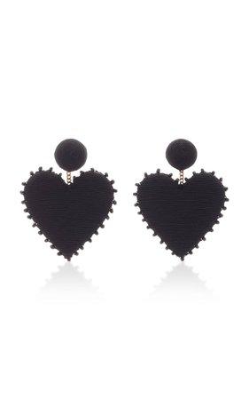 Cora Crystal-Embellished Silk Cord Earrings by Rebecca de Ravenel | Moda Operandi
