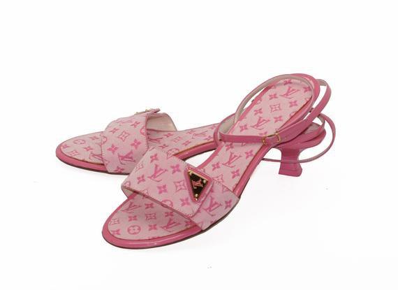 Louis Vuitton mules rose | Etsy