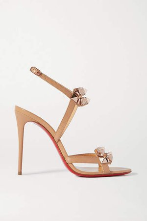 Galerietta 100 Studded Leather Slingback Sandals - Neutral