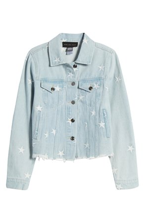 Know One Cares Star Embroidered Denim Jacket | Nordstrom