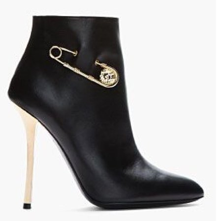 black gold versace boots shoes