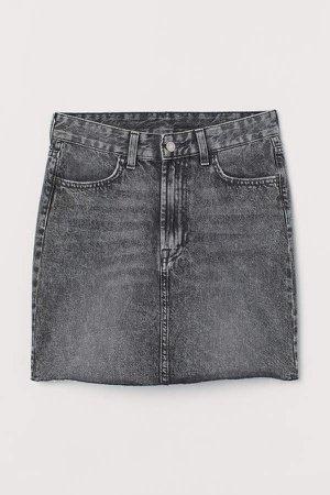 Denim Skirt - Gray