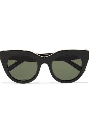 Le Specs | Air Heart cat-eye acetate and gold-tone sunglasses | NET-A-PORTER.COM