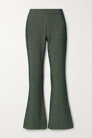 Nolan Jacquard Flared Pants - Navy