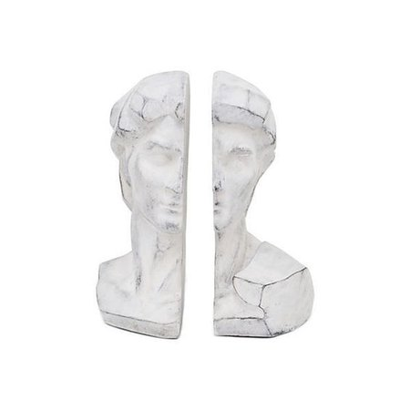 Classical Bust Bookends Gray