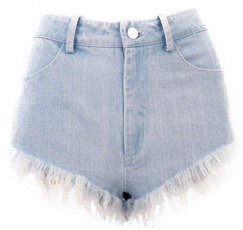 JULIANA HERC - Light Blue Denim Shorts