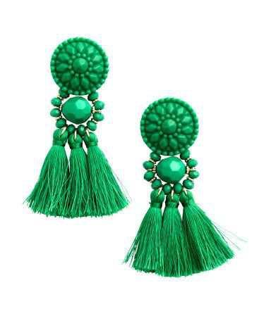 Earring Tassels Green