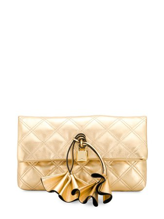 Marc Jacobs Sofia Loves Quilted Clutch M0016080710 Gold | Farfetch