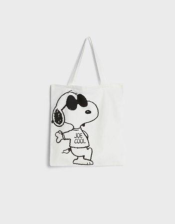 Snoopy tote bag - New - Bershka United States