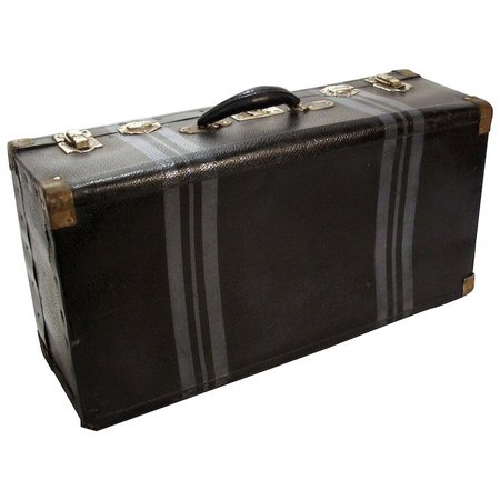 Vintage Prager Durabell Luggage Train Airplane Business Suitcase : Utiques Antiques | Ruby Lane