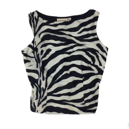 SALE ✨ dreamy 1990's fuzzy zebra print top ✨... - Depop