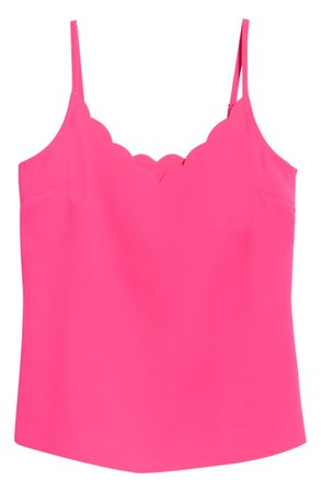 Ted Baker London Siina Scallop Neckline Camisole | Nordstrom