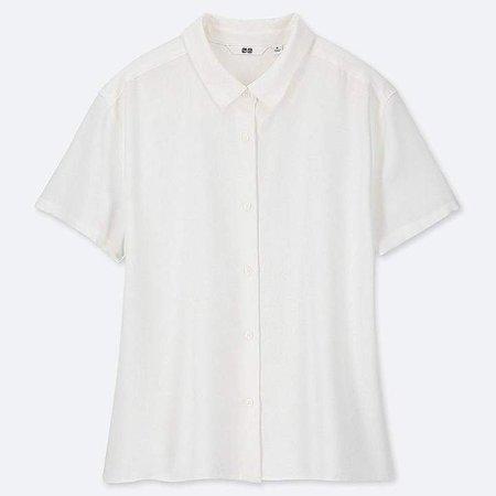 Women's Rayon Short-sleeve Blouse