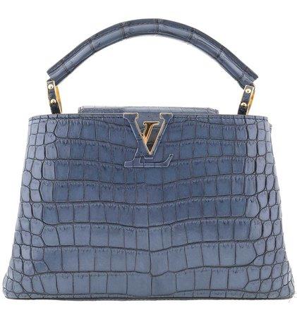 blue denim croco Louis Vuitton bag