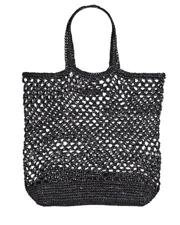 btb Los Angeles Jayden Raffia Tote Bag   INTERMIX®