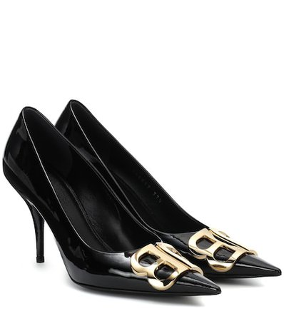 BB patent leather pumps