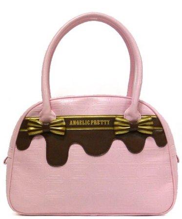 Angelic Pretty Melty Chocolate Ribbon Boston Bag