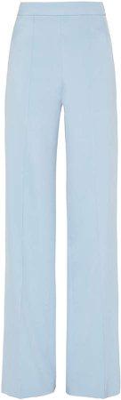 macgraw Peacock Silk Faille Wide-Leg Pants