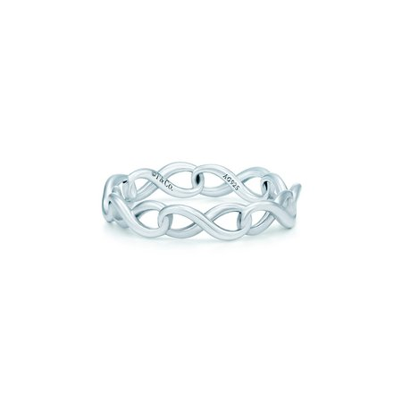 Tiffany Infinity narrow band ring in sterling silver   Tiffany & Co.