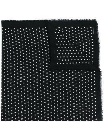 Saint Laurent Polka Dots Printed Scarf - Farfetch