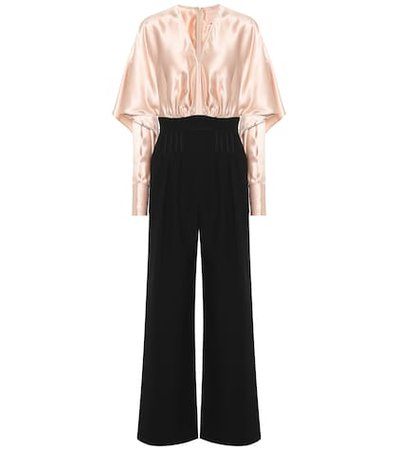 Ellia silk-blend jumpsuit