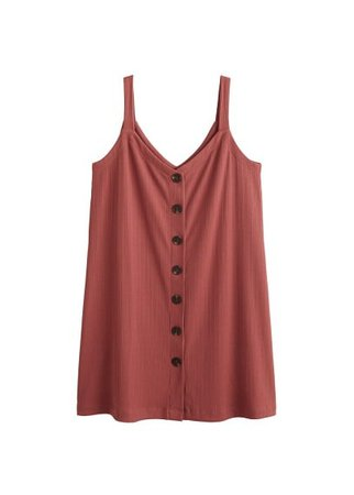 Violeta BY MANGO Button knit dress