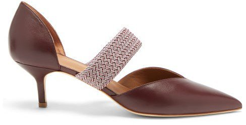 Maisie Point-toe Leather Pumps - Burgundy