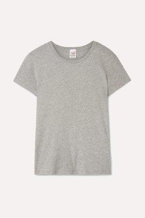 Hanes 1960s Cotton-jersey T-shirt - Light gray