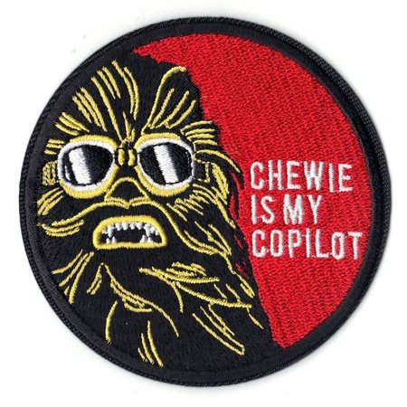 Chewie is my Copilot iron on patch