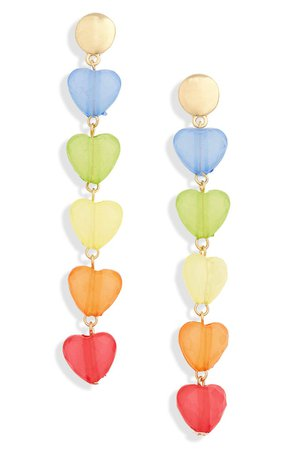 BP. Rainbow Heart Drop Earrings | Nordstrom