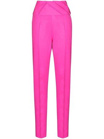 The Attico pleated-detail straight-leg trousers - FARFETCH