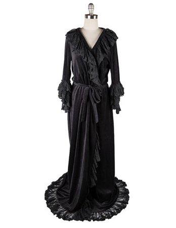 CHRISTINE'S DRESSING GOWN (BLACK)