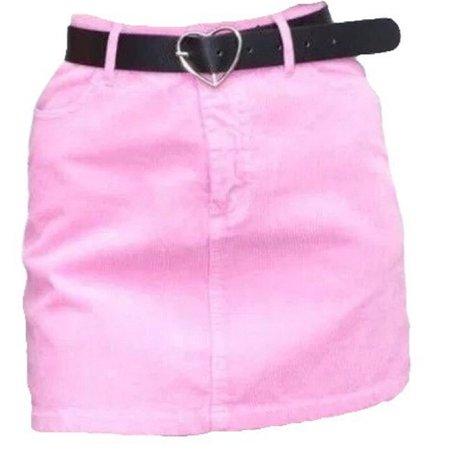 pink mini skirt w/ belt, brandy melville