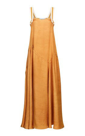 Abadia Paneled Silk Twill Maxi Dress