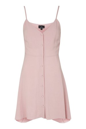 Button Asymmetric Mini Dress