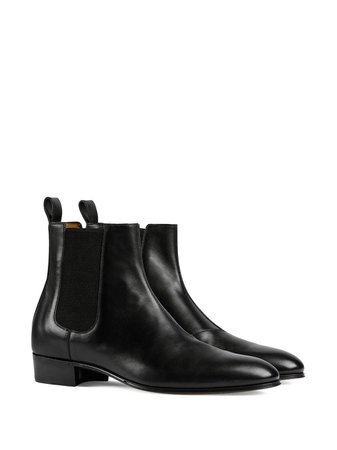 Gucci Leather Ankle Boots - Farfetch