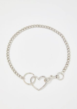 Heart Clasp Chain Necklace | Dolls Kill
