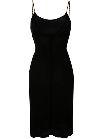 Chanel Pre-Owned Chained Straps Slip Dress Vintage   Farfetch.com