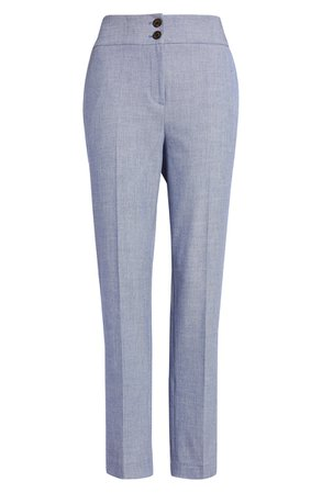 Halogen® Chambray Ankle Pants (Regular & Petite) | Nordstrom