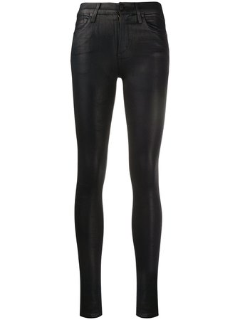 Citizens of Humanity Rocket wax coated skinny trousers - FARFETCH