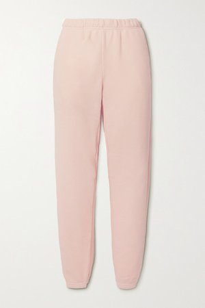 Cotton-jersey Track Pants - Baby pink