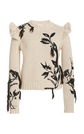 Lucky Embroidered Cashmere Sweater by Zimmermann | Moda Operandi