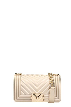 Marc Ellis Gold Pvc Quilted Leather Flat S Bag