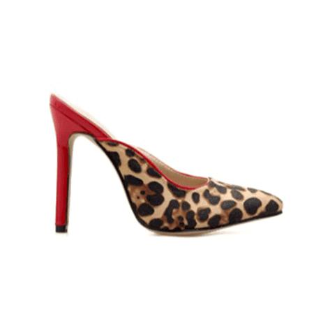 JESSICABUURMAN – LIOKA Leopard Printed Suede Mules Sandals