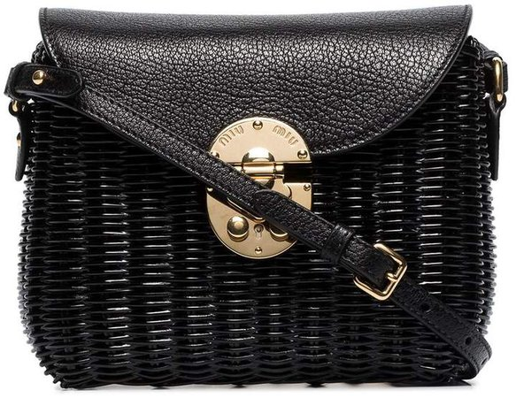 straw and leather shoulder bag